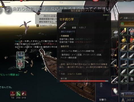 セチ釣り竿でカモメ釣り02