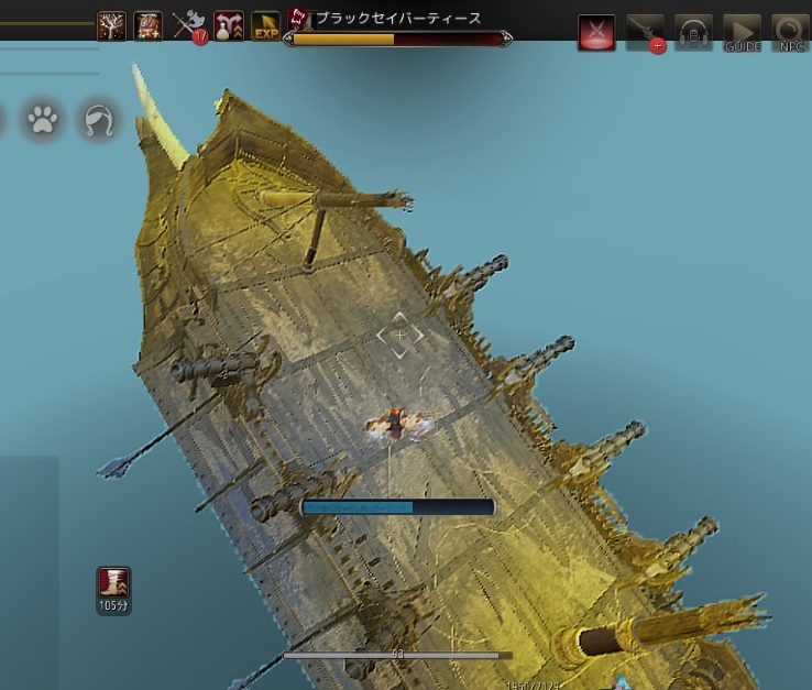 二隻目のガレー船で青装備のための素材狩り / 沈没と落雷【黒い砂漠Part1310】