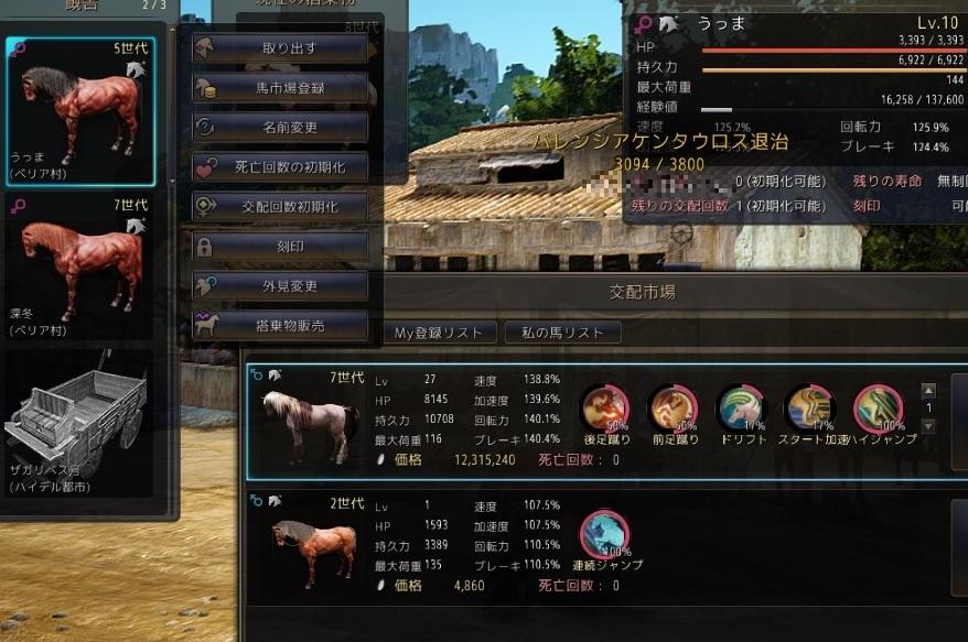 7世代LV27♂+5世代LV10♀=6世代♂【馬交配の結果Part77】