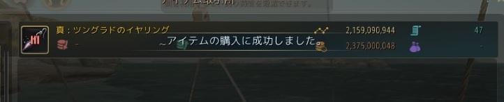 ツングラドのイヤリングIIIの購入に成功して攻撃力2UP【黒い砂漠Part1478】