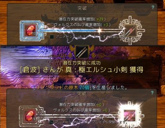 サブ子のエルシュ武器と修練者の天聖棍をIIIに強化01