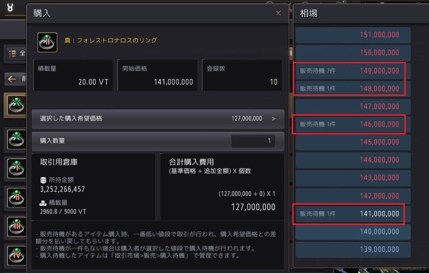 強化金策で作ったアクセを売る方法01
