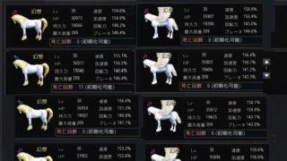 幻想馬のLV30時における平均的なステータスと最低ライン【黒い砂漠Part2310】
