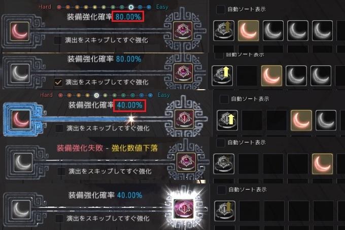 終末の月のリングを赤い月明かりの欠片で強化する時の成功率02