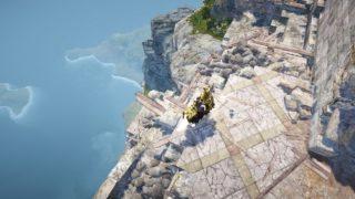 クロン城から落下時すぐクロン城へ上がることができる経路とは何なのか【黒い砂漠Part2375】