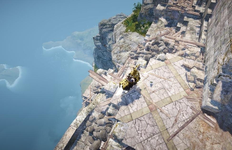 クロン城から落下時すぐクロン城へ上がることができる経路04