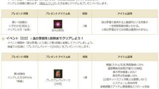 定期メンテ後情報 / 血の祭壇の実装とスピードハントイベント再び(07/03)