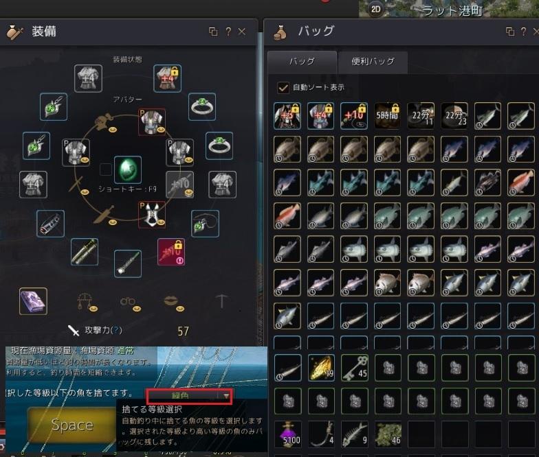 緑等級までの魚を捨ててのロス放置での釣り結果な利益報告01