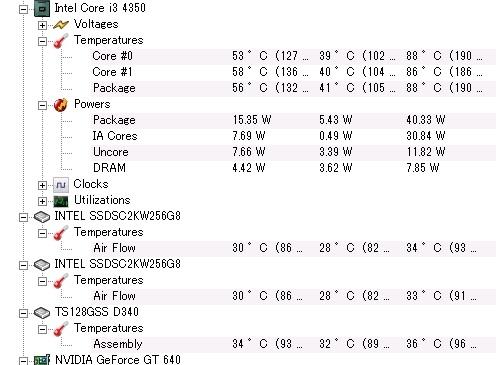 インテルのSSDの温度01