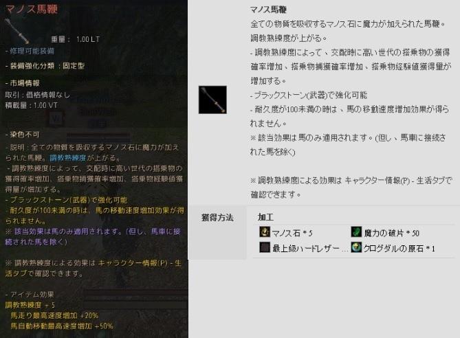 マノス馬鞭の作り方 / マノスリングIの購入に成功【黒い砂漠Part2647】