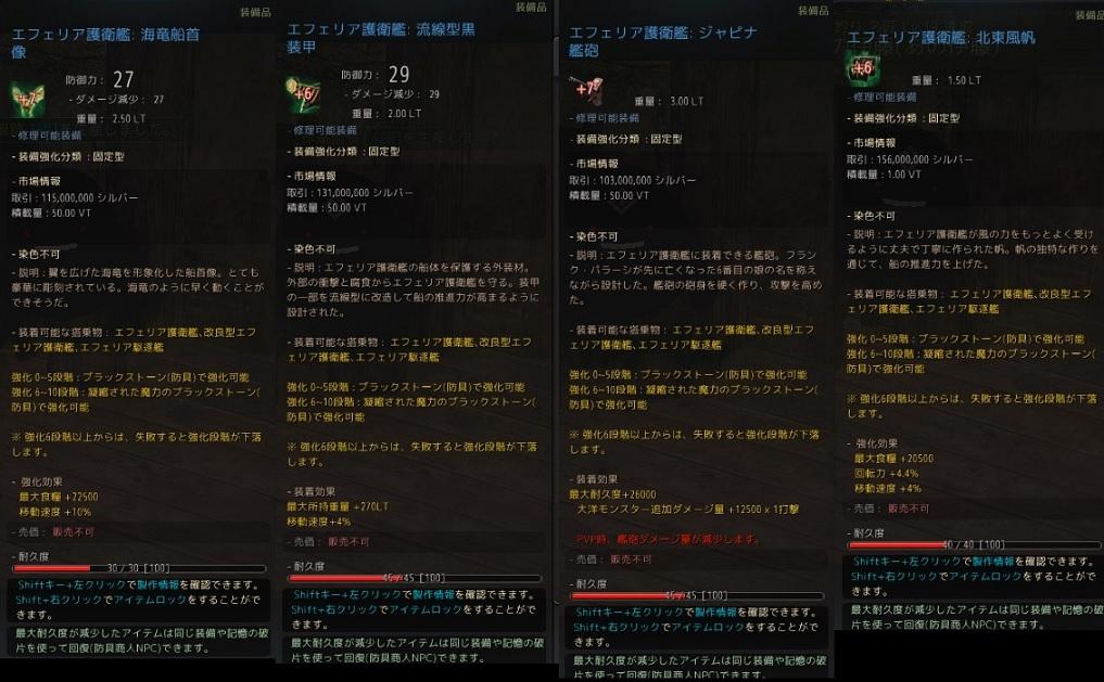 護衛艦青装備の強化するのに最適なスタック数の紹介04