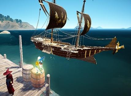 改良型帆船の装備見た目が反映されるように