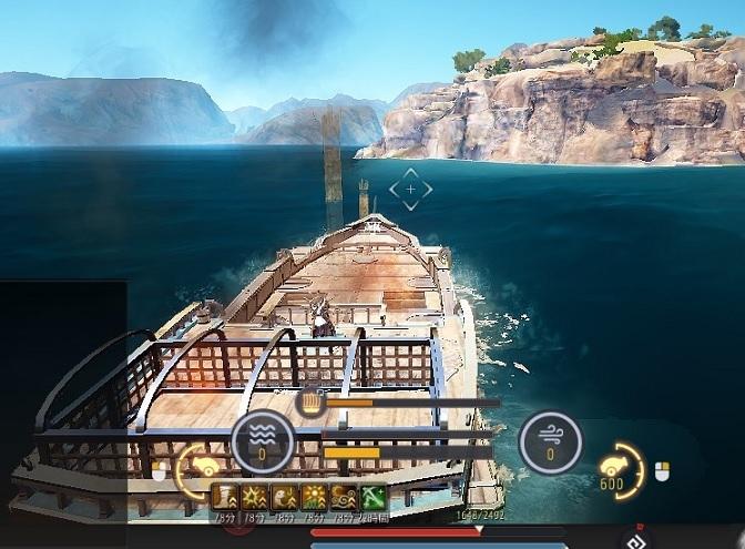 船PKに遭遇して帆船になんか突き刺さって煙がもくもく02