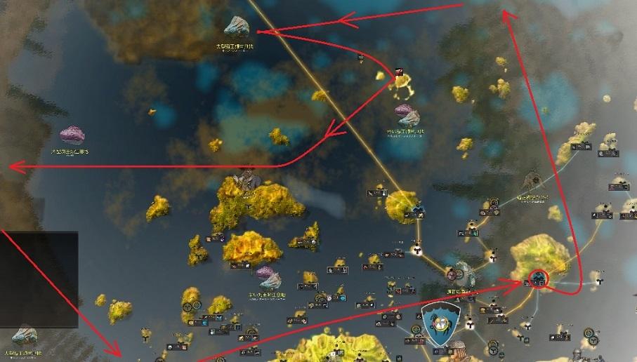 オーキルアデイリー消化時の船の動き詳細図