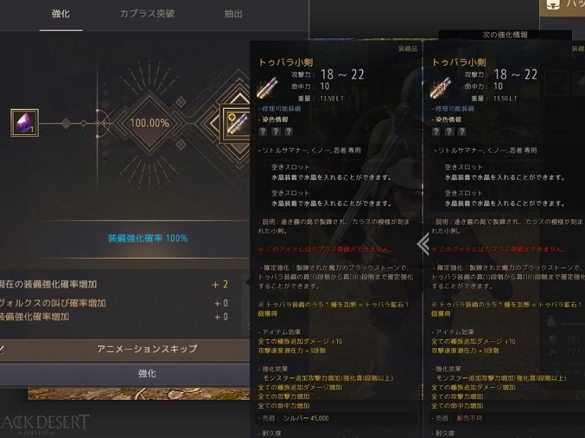 トゥバラ装備の強化とクーポンコードの配布02
