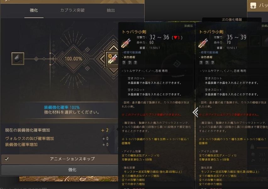 トゥバラ装備の強化とクーポンコードの配布03