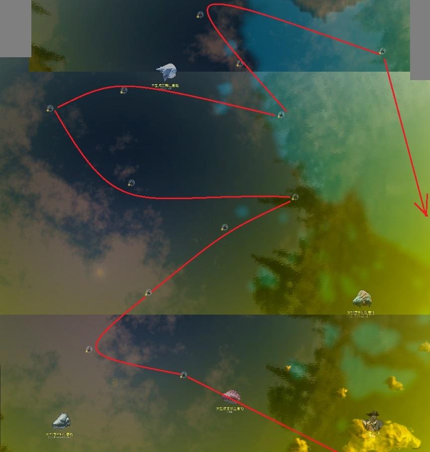海上の人々マゴリアの星の知識集め 難破したイカダとかの場所05