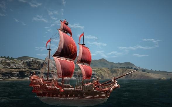 赤ネの船が真っ赤になりました