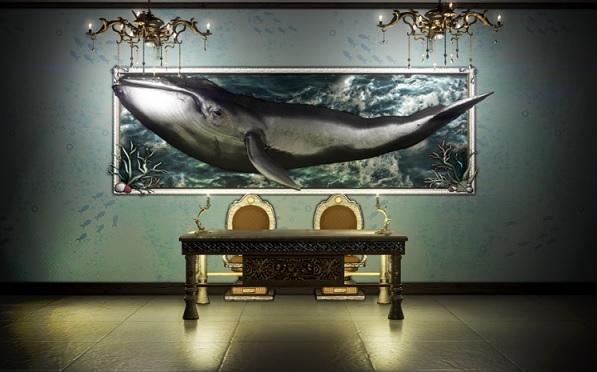 オオクジラ壁装飾