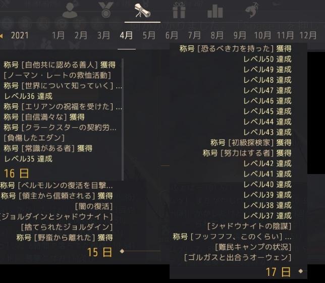 新規アカウントのキャラが辿った歴史年表02